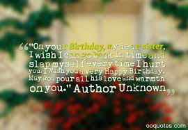 sweet and great sister birthday quotes and sayings images