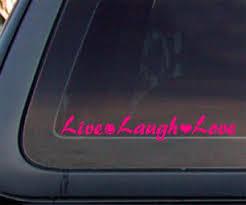 Live Laugh Love Car Decal Sticker Hot Pink Diann E Williamsert