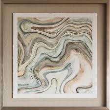 bella casa arid ocean framed printed