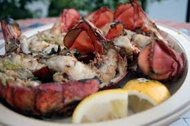 Charcoal Grilled Lobster Tails
