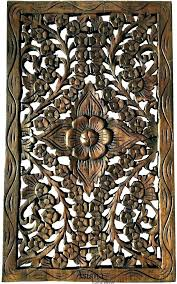 wooden carved wall art wood medallion