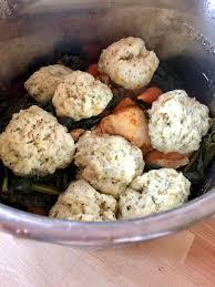instant pot en stew with dumplings