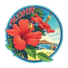 Hawaiian Hibiscus Flower Sticker Decal From Maui Hawaii Etsy