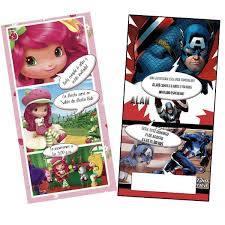 Invitaciones Infantiles Personalizadas Tipo Comic Y Ticket Com