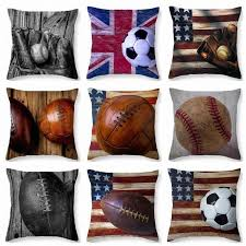 softball pillow case baseball football