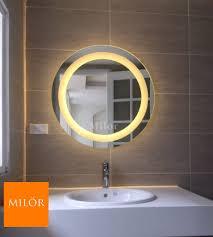 Gương tròn đèn led vàng phòng tắm Thái Bình