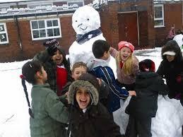 Snowman at Byron Wood School