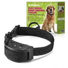Ipinkoo No Bark Collar Training Device Electric Shock Anti Dog Bark Contorl With 7 Levels Manual Adjusta Dog Training Collar Anti Bark Collar Dog Training Pads