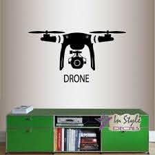 Vinyl Decal Drone With Camera Robot Technology Boys Bedroom Wall Sticker 2080 Ebay