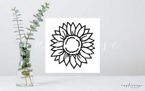 Sunflower Decal Car Decals Sunflower Sticker Cute Etsy