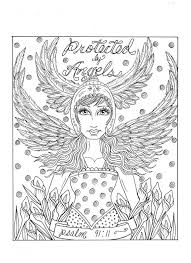 Angel Download Instant Kleurplaat Af Te Drukken Van Christian Etsy