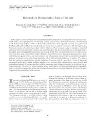 pdf research on homeopathy state of