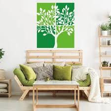 Twin Colour Tree Branch Plant Wall Decal Kids Room Sofa Forest Square Tree Pastoral Nature Wall Sticker Bedroom Vinyl Home Decor Wall Stickers Aliexpress
