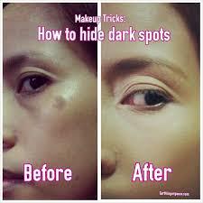 makeup tricks how to hide darks spot on