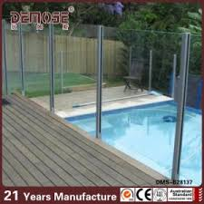 China Easy Assembly Silver Slot Pipe Posts Glass Fencing Dms B28137 China Glass Fence Pool Fence Used