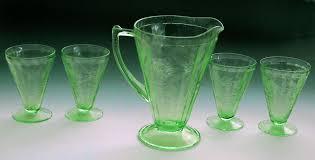 vaseline depression glass pitcher 4