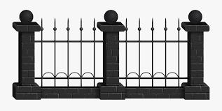 Fences Clipart Black Black Fence Clipart Free Transparent Clipart Clipartkey