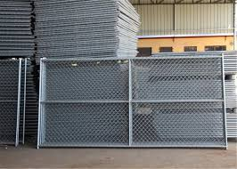 6 X12 Round Tubing 1 32mm X 16 Ga Thick Temporary Chain Link Fence Cross Barce Hdg 275 Mesh Spacing 2 X2 63mmx63