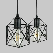 black iron cage modern hanging lights