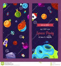 Vector La Invitacion Del Partido Con Los Elementos Los Planetas Y