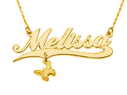14k gold name necklace pendant