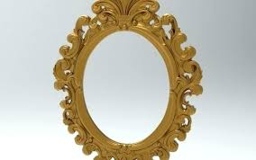 small oval mirror waffel co
