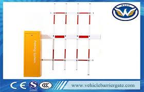 Oem Push Button Vehicle Parking Barrier Gate 3 Fence Folding Arm