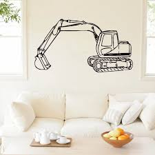 Tractor Excavator Wall Sticker Home Decor Kids Children Room Decoration Nursery Wall Decals Removable Wallpaper Poster Wall Stickers Aliexpress