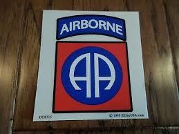 U S Army 82nd Airborne Window Decal Bumper Sticker Clear Vinyl Decal Ebay
