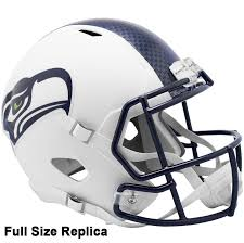 Seattle Seahawks Riddell Flat White Full Size Replica Helmet Northwest Sportscards