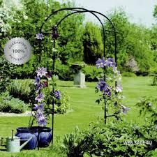 iron garden arch trellis arbor circle