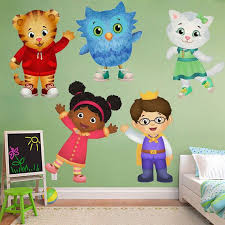 Daniel Tiger 39 S Neighborhood Wall Sticker O The Owl Mural Decor Decal Decals Katerina Kittycat Room Home Remova Daniel Tiger Owl Mural Daniel Tiger Birthday
