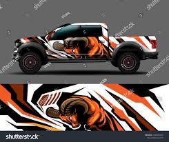 Car Wrap Decal Vinyl Sticker Designs Concept Auto Design Geometric Stripe Strong Animal Background For Wrap Vehicles Race Car Wrap Vinyl Sticker Design Car