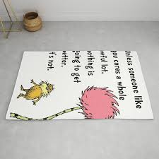 dr seuss lorax rug by edleon society6