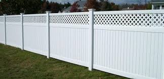 Residential Fencing Vinyl Privacy In Great Falls Va Vinyl Fence With Lattice Top