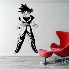 Dragonball Z Inspired Goku Wall Sticker Vinyl Animated Movie Cartoon Home Decor Diy Wall Decal For Kids Room Wish