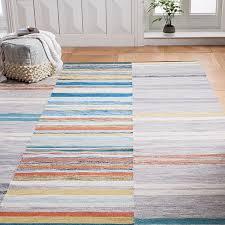 mixed stripes cotton dhurrie multi