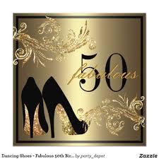 Dancing Shoes Fabulous 50th Birthday Invitation Zazzle Com