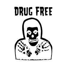 Straight Ege Drugs Free Misfits T Vinyl Decal Sticker