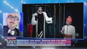 Live Non è la D'urso, veleno tra Morgan e Cristiano Malgioglio