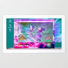 windows 95 default wallpaper art print
