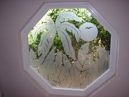 custom glass etching and frosted window