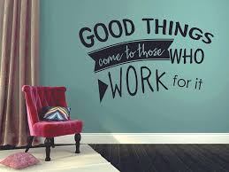 Amazon Com Good Things Come To Those Who Work For It Softball Wall Decals For Girls Boys Bedroom Inspirational Quotes Sports Vinyl Decor Stickers Athlete Motivation Decor Batter Room Decoration Size 18x20 Inch