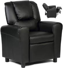 Amazon Com Costzon Kids Recliner Chair With Cup Holder Toddler Furniture Children Armrest Sofa W Headrest Footrest For Girls Boys Baby Bedroom Kids Room Pu Leather Recliner Kids Couch Black Kitchen Dining