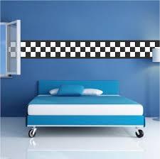 Checkered Flag Border Racing Cars Boys Bedroom Wall Decal Wallpaper Bo American Wall Designs