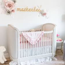 pink crib bedding mackenlee faire