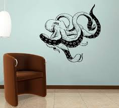 Octopus Tentacles Wall Decal Kraken Art Sticker Bathroom Etsy