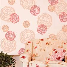 Rose Flower Wall Stencil Floral Stencil Designs For Diy Wall And Furniture Decor