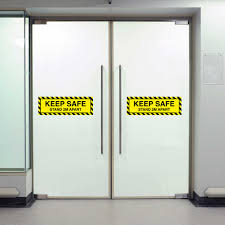 Keep Safe Stand 2m Apart Sign Vinyl Warning Decal Office Business Door Notice For Walls Windows Drop Shipping Wall Stickers Aliexpress