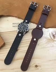 military bund style cow leather cuff